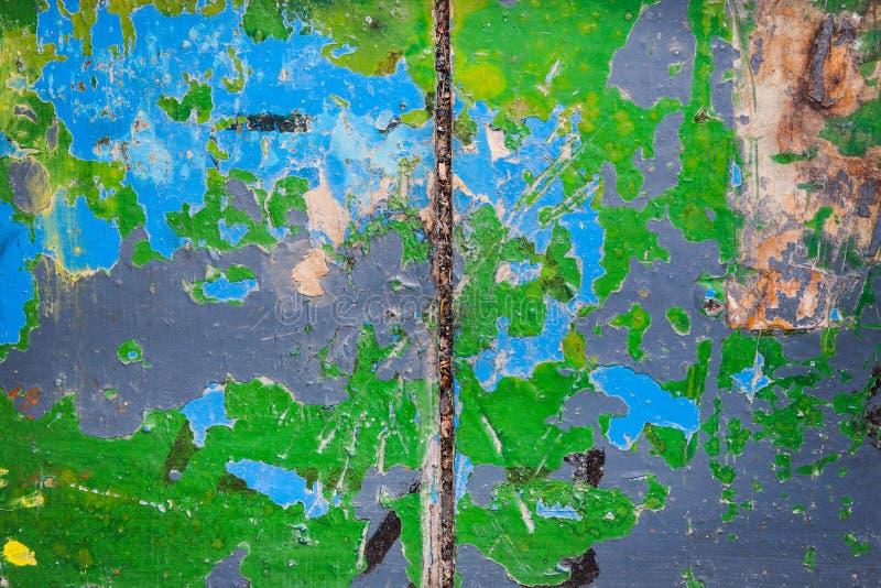 Vieux grunge peint en bois image stock