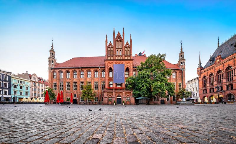 Vieux hôtel de ville de Torun, Pologne photographie stock