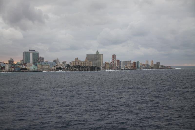 Vieux Habana et mer image libre de droits
