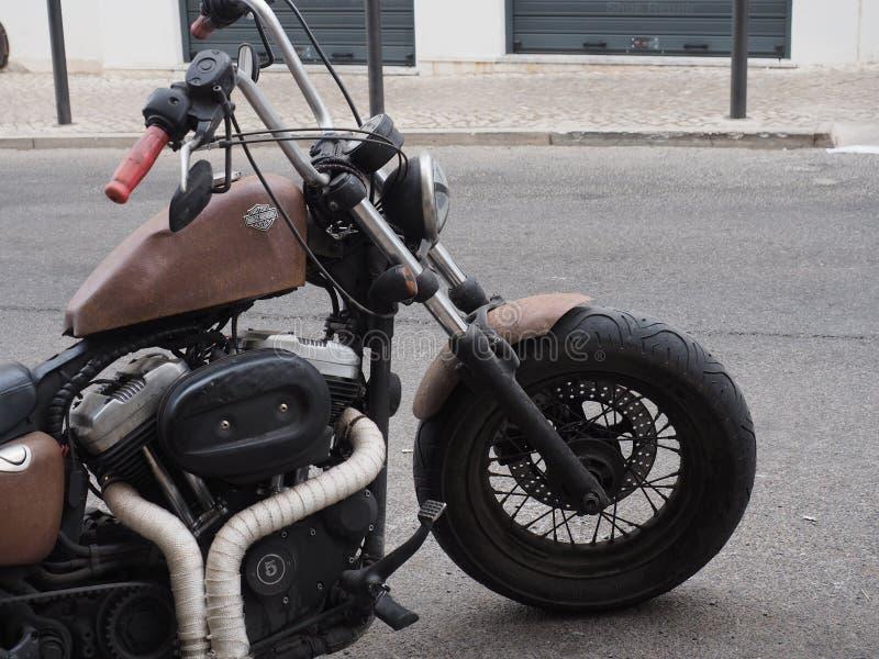 Vieux Harley Davidson Motorcycle photographie stock