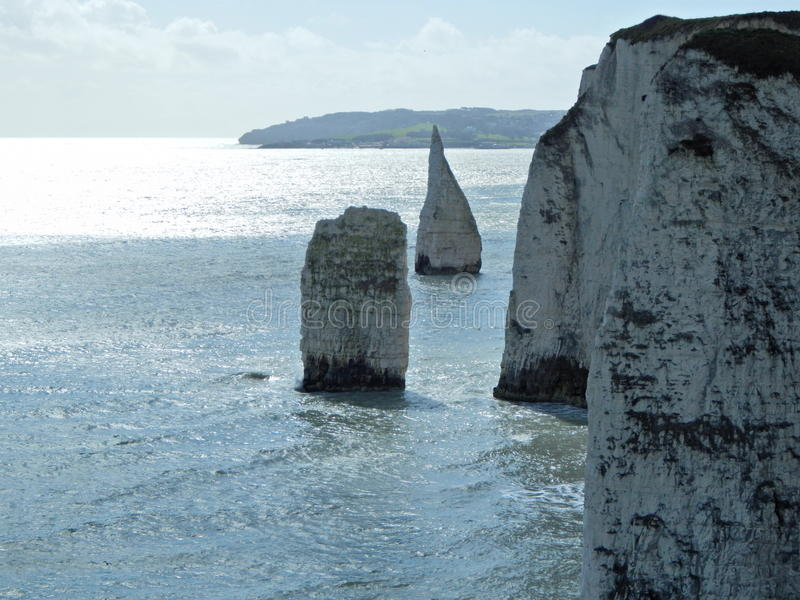 Vieux Harry Rocks, R-U image stock