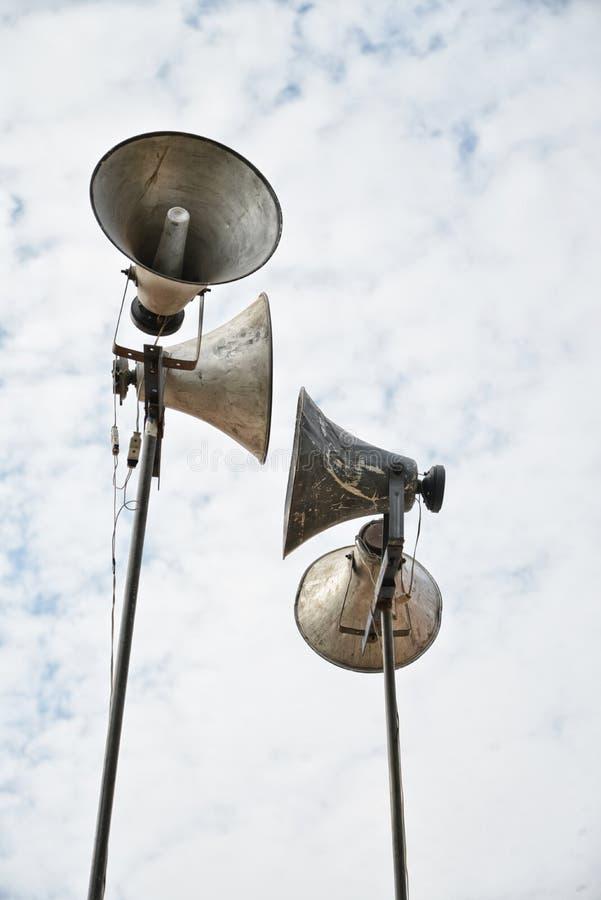 Vieux haut-parleurs photographie stock