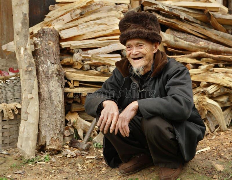 Vieux hommes Dazhai Chine de Yao. PROVINCE de GUANGXI, hommes ethniques de Yao vieux, village Dazhai, sud-ouest Chine de Yao, le 3 image libre de droits