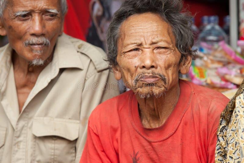 Vieux hommes de Balinese images libres de droits