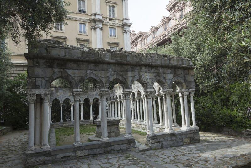 Vieux jardin à Gênes photographie stock