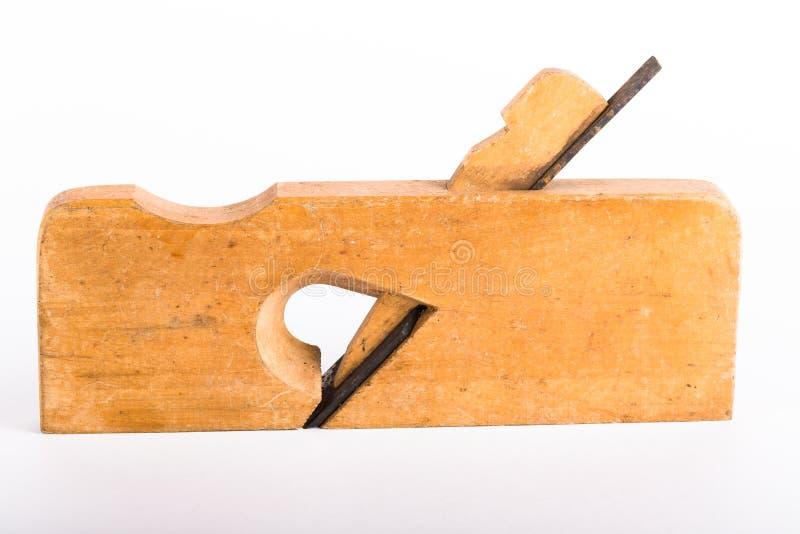 Vieux jointer en bois sur un fond clair photographie stock