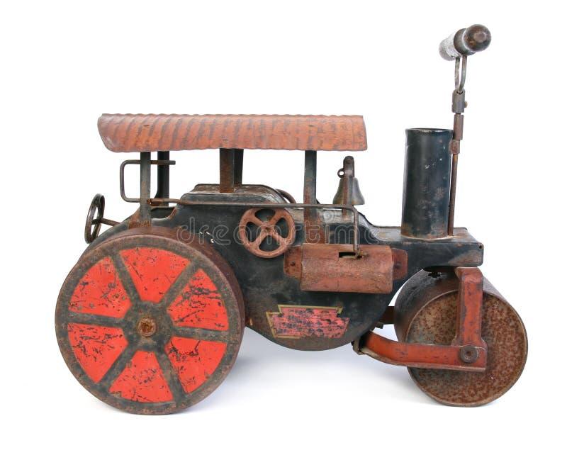 Vieux jouet de rouleau compresseur image libre de droits
