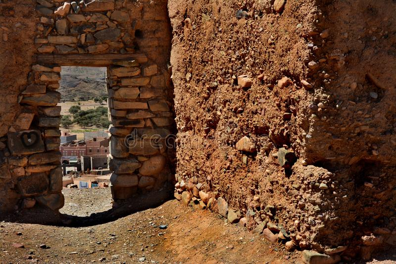 Vieux kasbah au Maroc, Afrique photo stock
