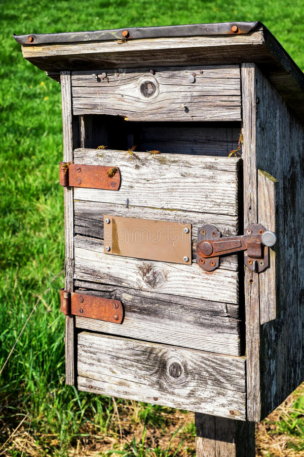 Vieux Letterbox photo stock
