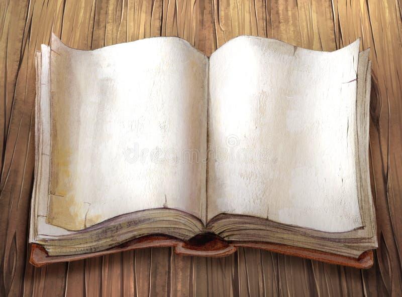 Vieux livre illustration de vecteur