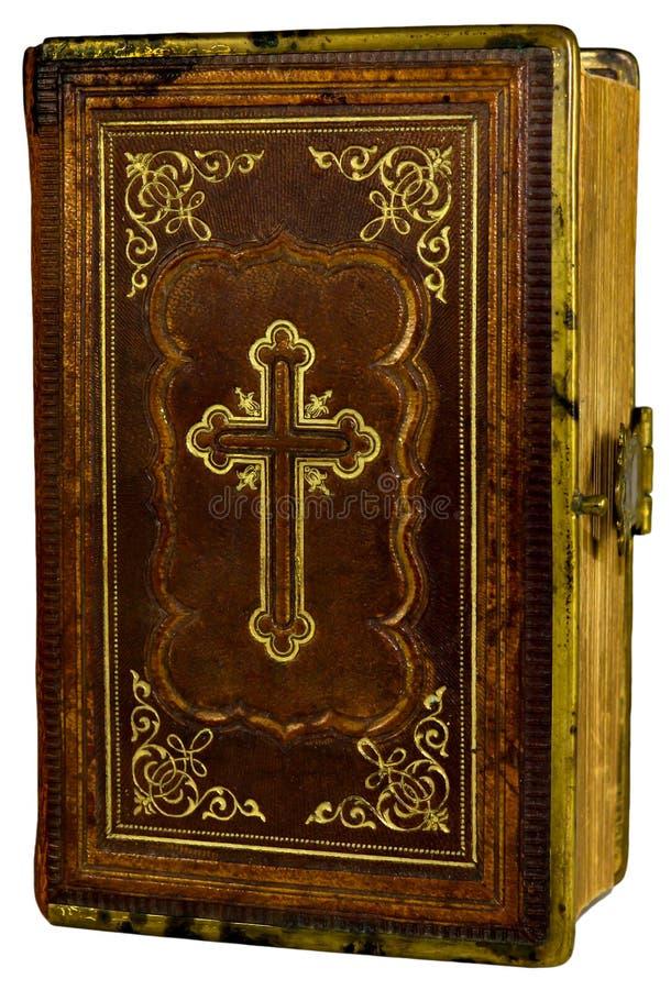 Vieux livre avec une croix photo libre de droits