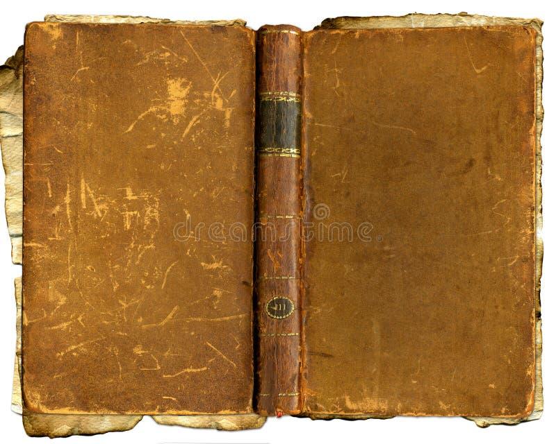 Vieux livre battu brun photos libres de droits