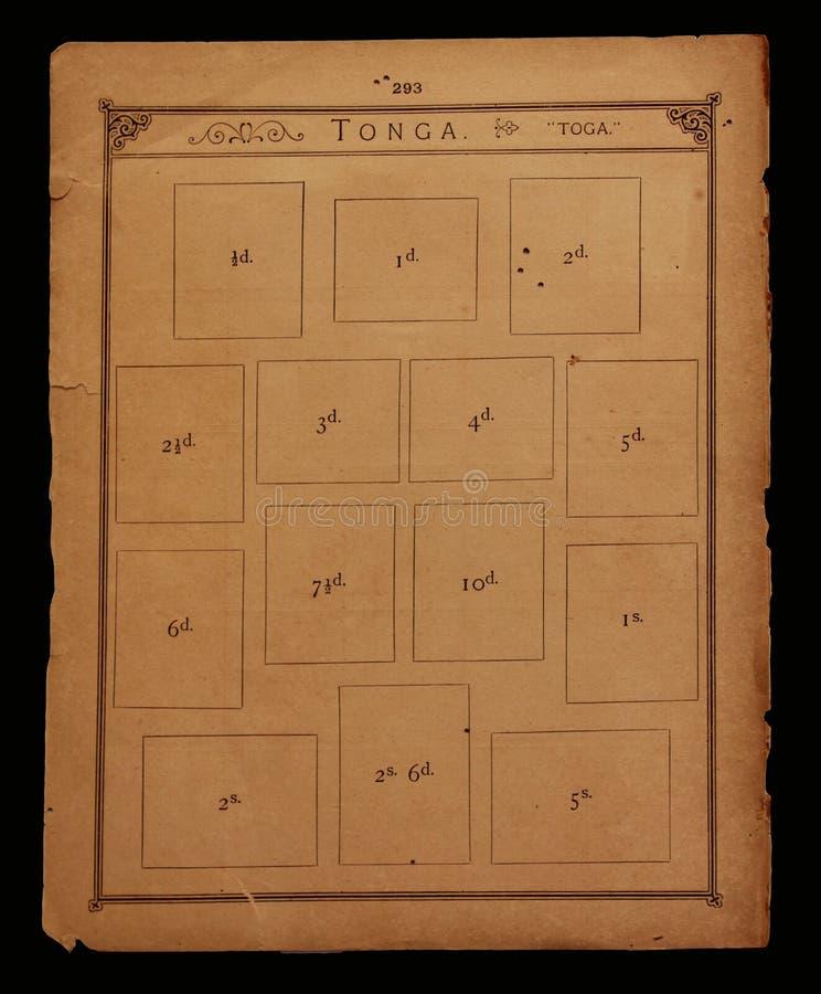 Vieux livre d'estampille photos libres de droits