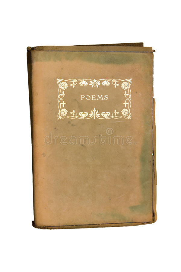 Vieux livre de poésie photographie stock libre de droits
