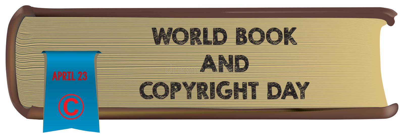 Vieux livre - livre et Copyright du monde illustration de vecteur