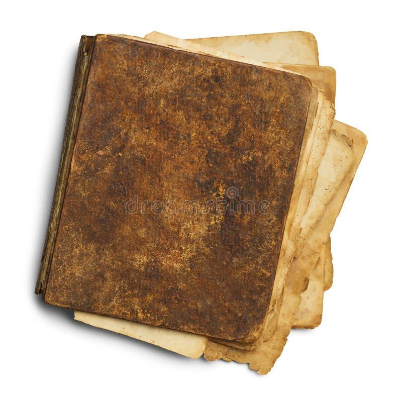 Vieux livre malpropre fermé photographie stock libre de droits