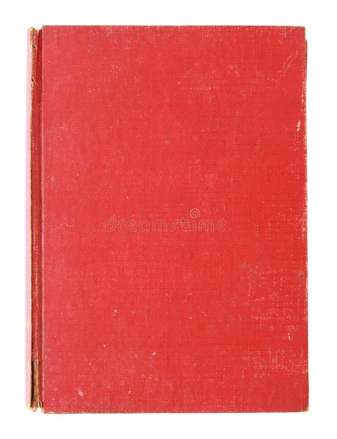 Vieux livre rouge de cache d'isolement image stock