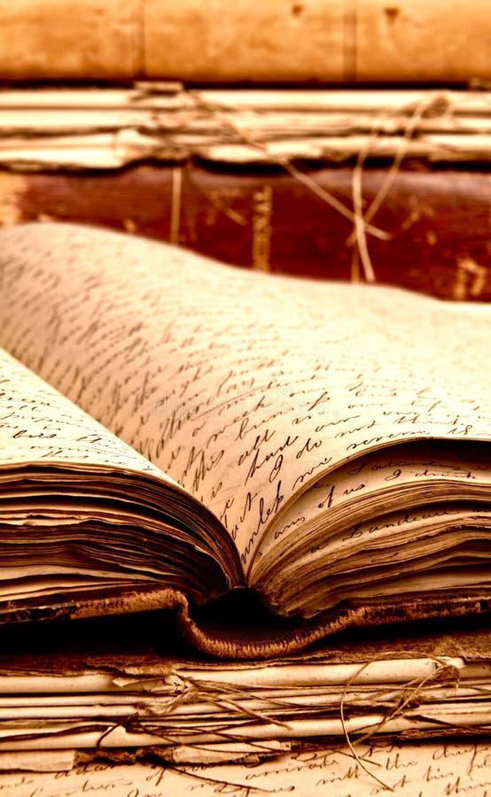 Vieux livres photos stock