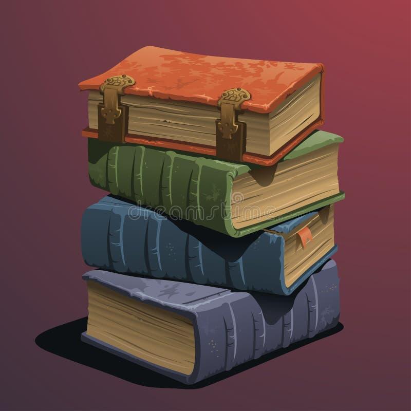 Vieux livres illustration libre de droits