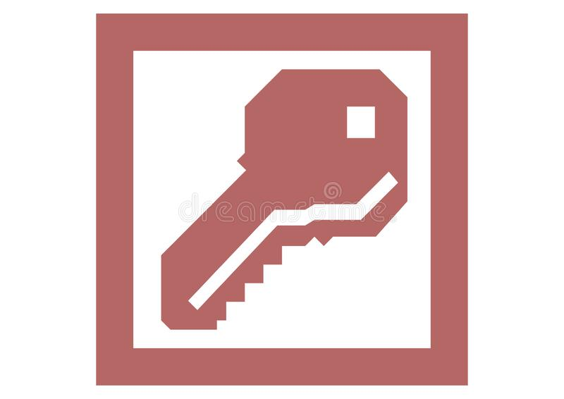 Vieux logo de Microsoft Access illustration libre de droits