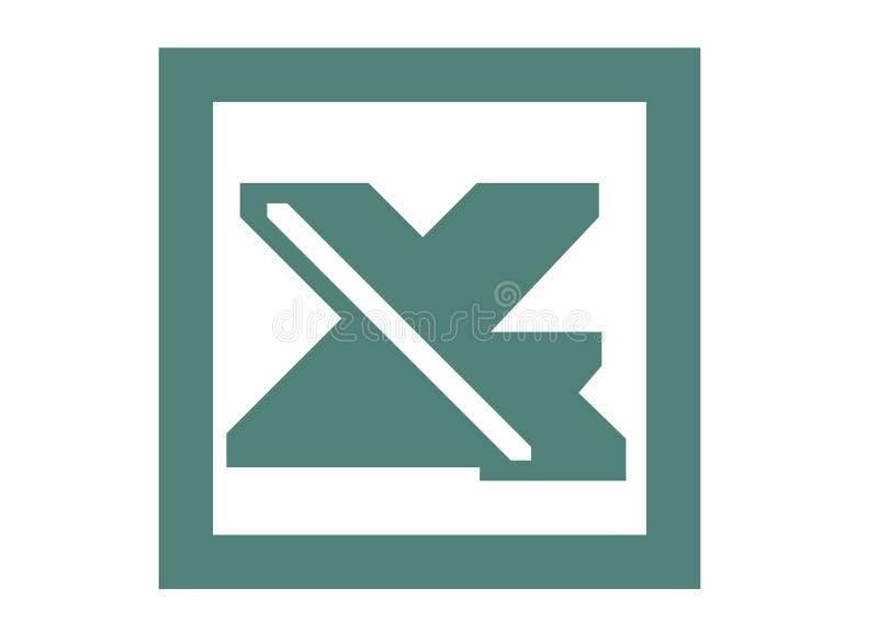 Vieux logo de Microsoft Excel illustration de vecteur