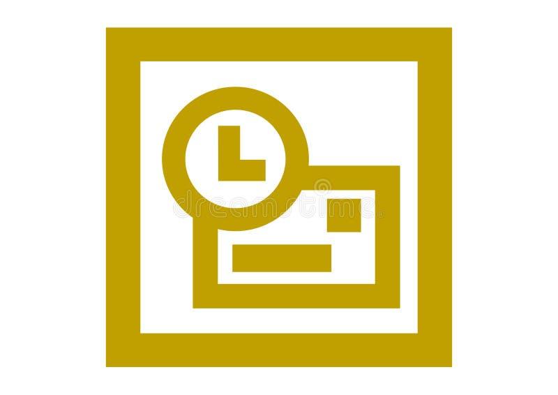 Vieux logo de Microsoft Outlook illustration de vecteur