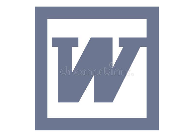 Vieux logo de Microsoft Word illustration de vecteur