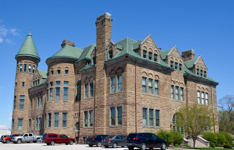 Vieux lycée de Frankfort image libre de droits