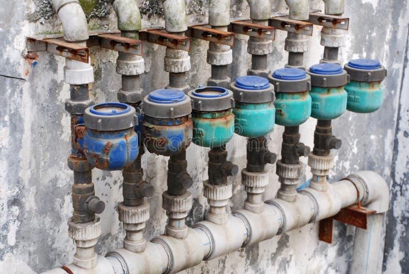 Vieux mètre d'eau images libres de droits