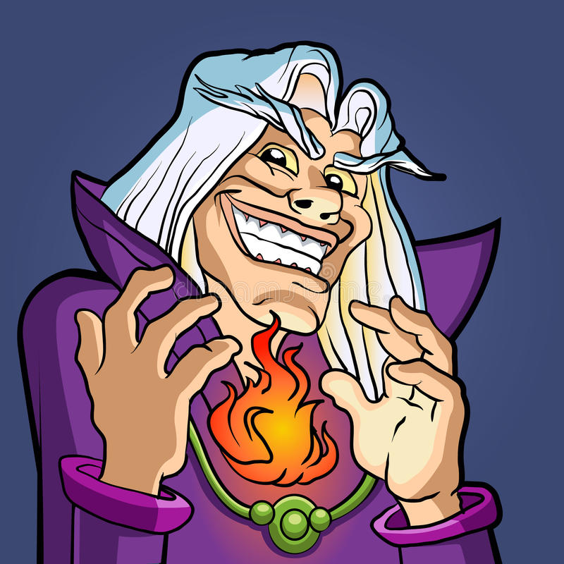 vieux magicien jetant un sort illustration libre de droits