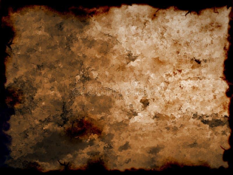 Vieux manip brûlé de papier/photo photographie stock