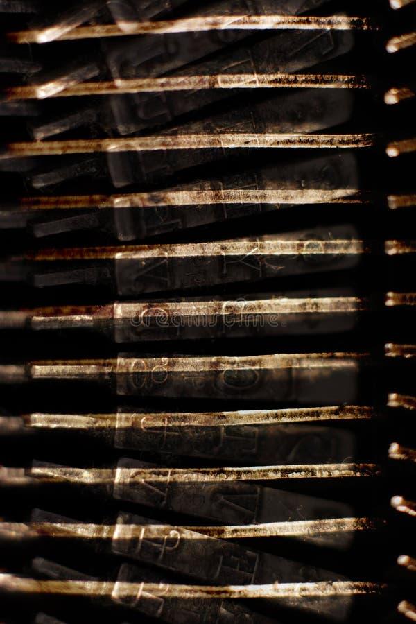 Vieux marteaux de machine à écrire photo libre de droits