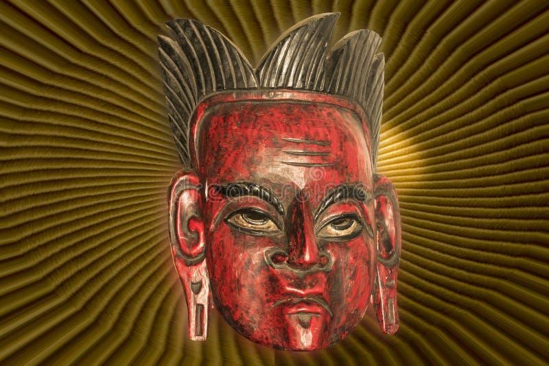Vieux masque cérémonieux d'Amérique du Sud photos libres de droits