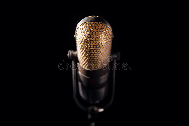 Vieux microphone images stock