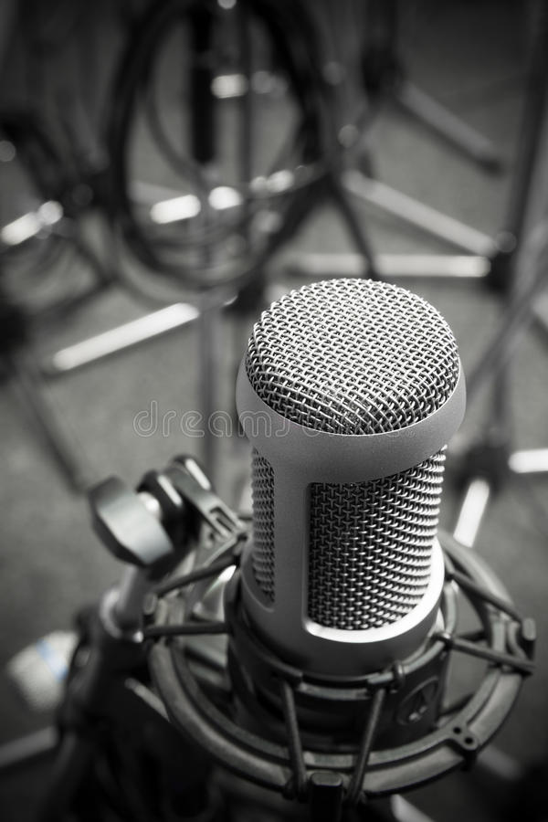 Vieux microphone photographie stock