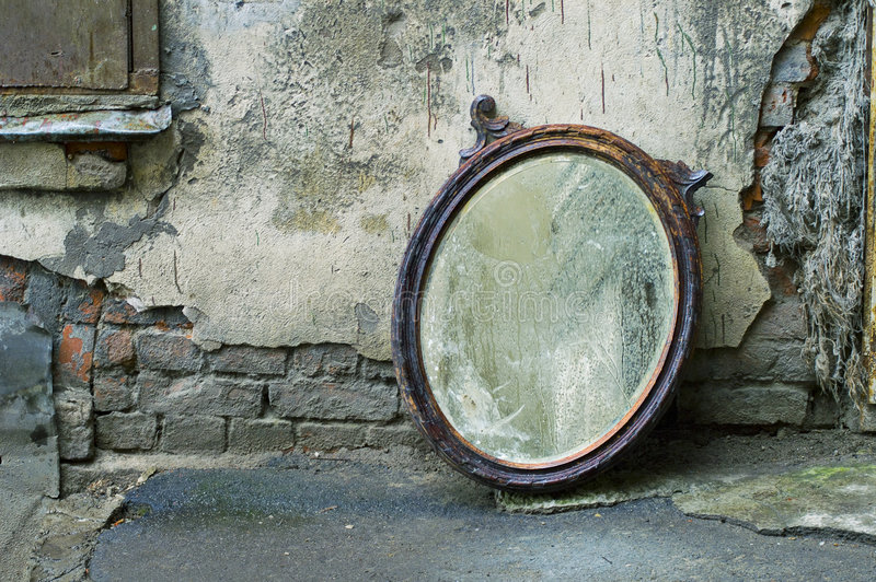 Vieux miroir photo libre de droits