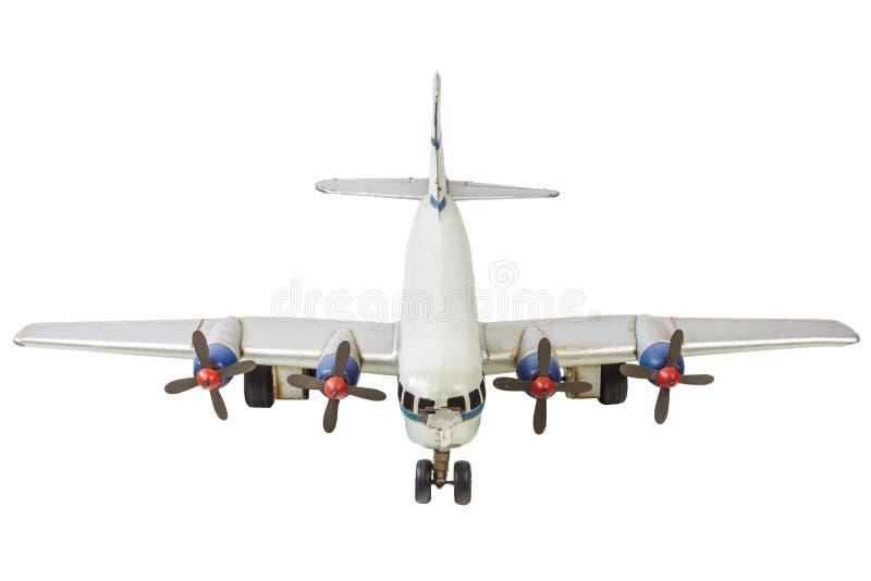 Vieux modèle commercial générique d'avion d'isolement sur le blanc photographie stock