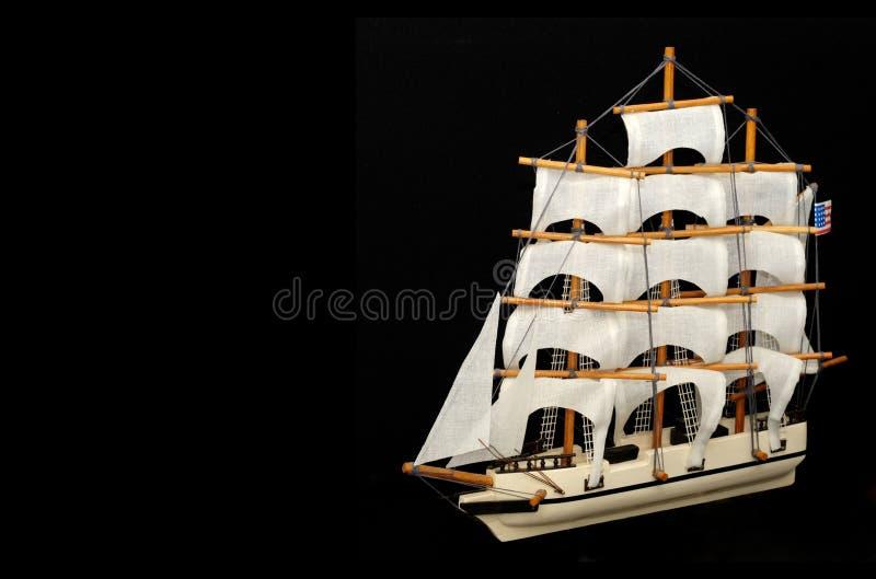 Vieux modèle de bateau à voiles photographie stock