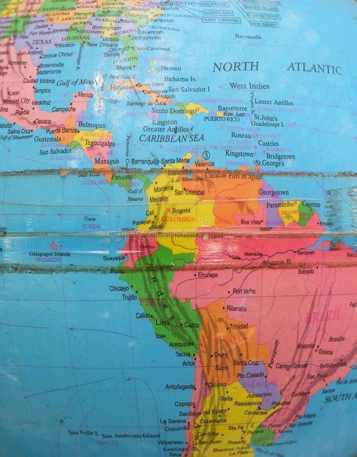 Vieux modèle de The Globe de la terre photographie stock libre de droits