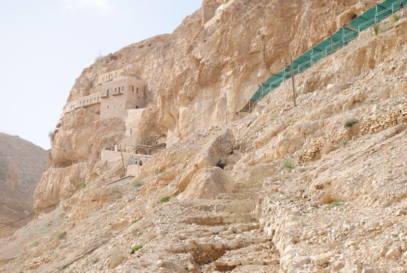 Vieux monastère à Jéricho photo stock