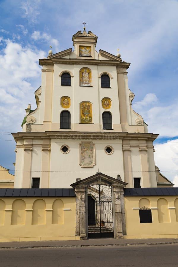 Vieux monastère dominicain. Ville de Zhovkva. Ukraine image libre de droits