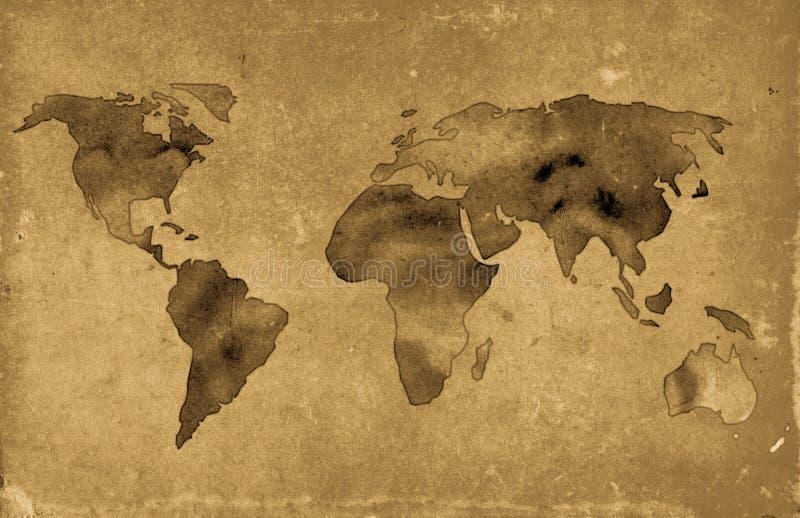 Vieux Monde de carte illustration de vecteur