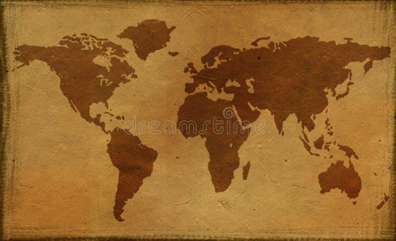 Vieux Monde de carte illustration stock