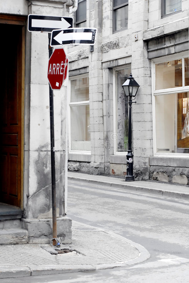 Vieux-Montreal Street stock photography