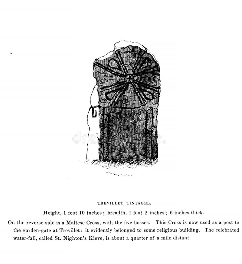 Vieux monument illustration libre de droits
