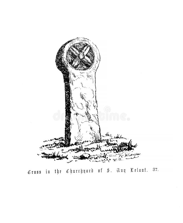 Vieux monument illustration de vecteur