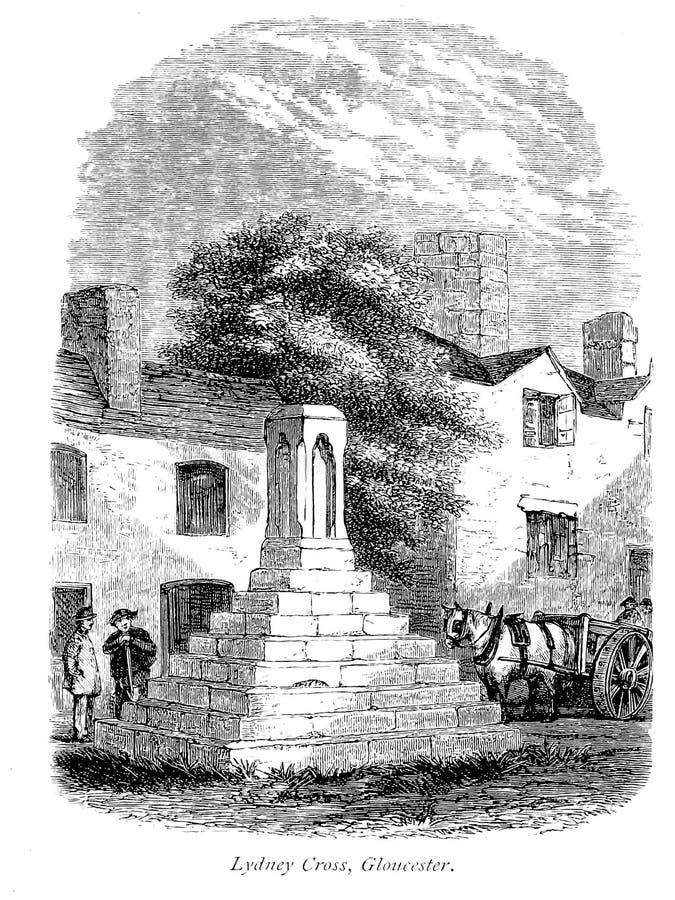 Vieux monument illustration stock