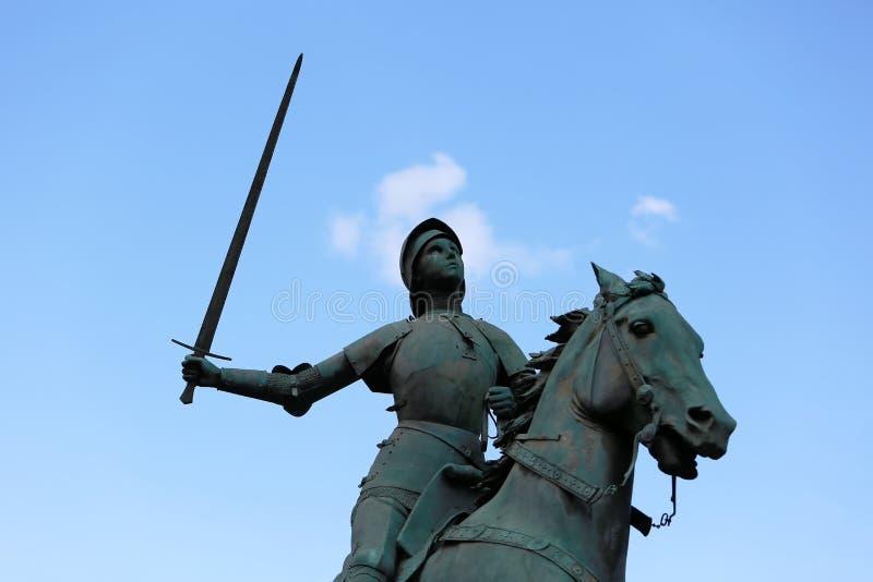 Vieux monument d'arc de Jeanne d (Jeanne d'Arc) image stock