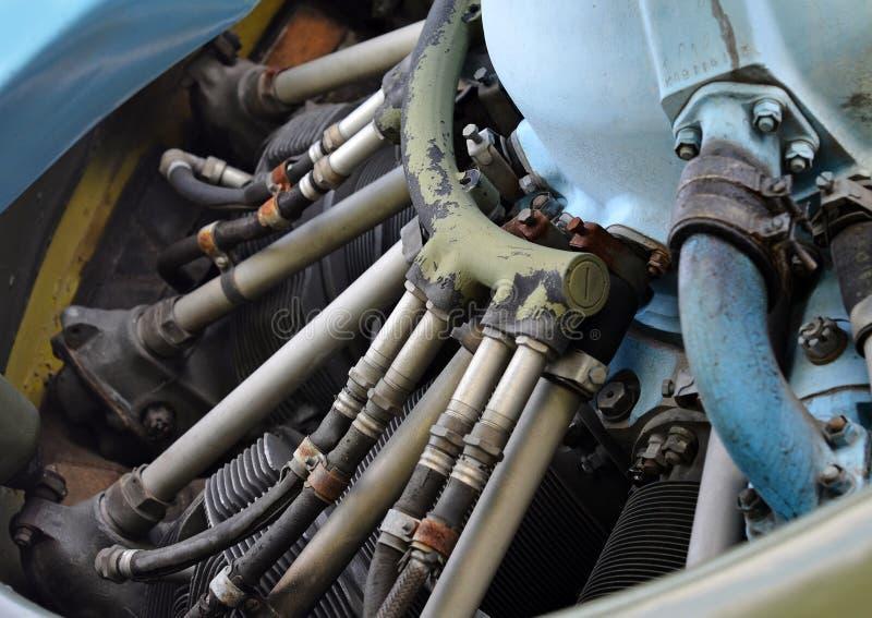 Vieux moteur à piston images stock
