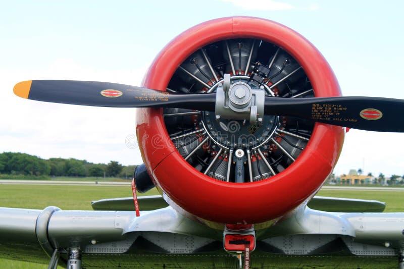 Vieux moteur américain d'avion de combat image stock